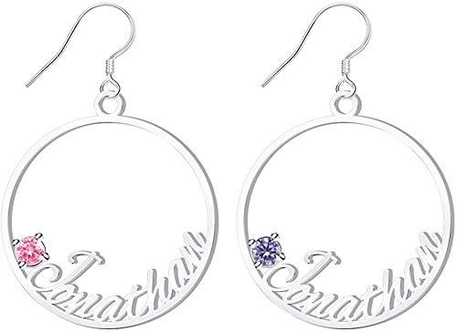 Custom Earrings Name Personalized With for Teens Girls Women Dangle Hoop Earring Design A