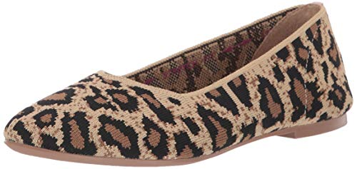 Skechers Damen Cleo - Claw-Some Geschlossene Ballerinas, Braun (Natural Flat Knit Nat), 39 EU