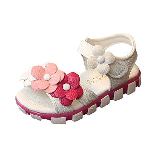 Allence Babyschuhe, Kleinkind Blumen Mädchen Sandalen beleuchtet weichen Sohlen Prinzessin Baby Schuhe