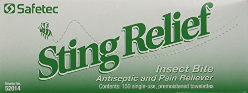 Sting Relief Wipes, Quantity of 150 Bulk Pack