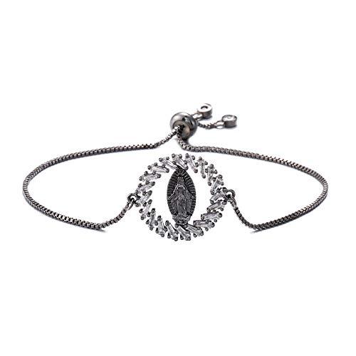Armband Armreif Armkette Damen Klassisches Design Charm Armbänder Für Frauen Mädchen Crystal Box Chain Armband Nbsl491-4