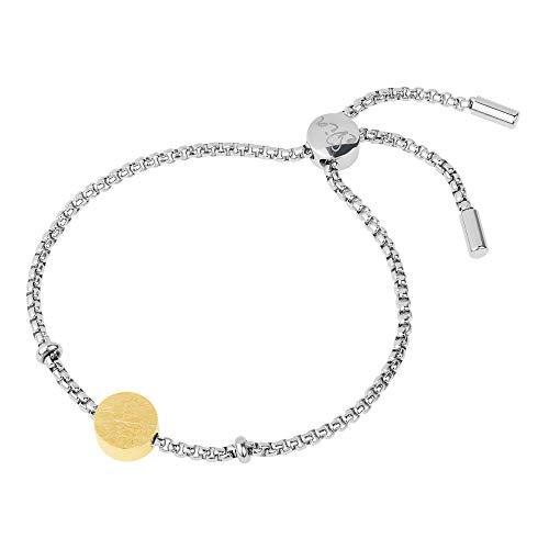 Ernstes Design Armreif evia Edelstahl A555 vergoldet graviert gekratzt Armband