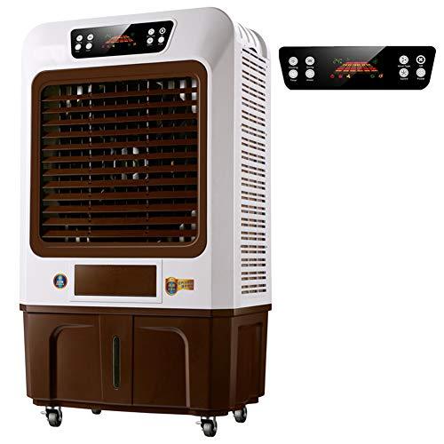 FJNS Aire Acondicionado Móvil,Control Remoto táctil LED,se Puede Ver la Temperatura Interior/Sincronización,3 velocidades,18000m³ / h,100L de Gran Capacidad,Uitable para Industrial,Remote