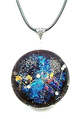 Colgante Collar Orgonita Orgonita Constelación Casiopea, piedras