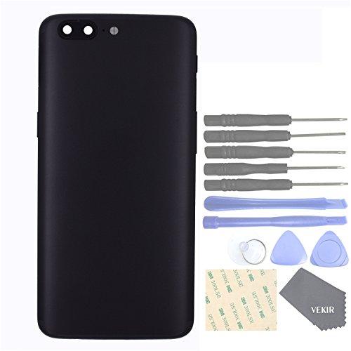 Repuestos de teléfonos celulares para OnePlus 5 1+5 Puerta de la batería + tapa del botón de volumen + tapa del botón de encendido + tapa del botón de vibración + cable flexible de vibración(black)