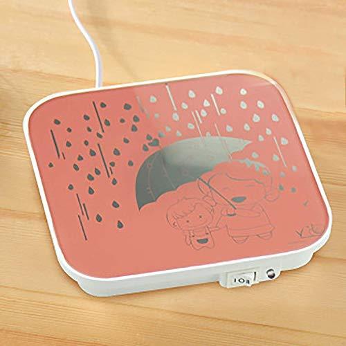 Almohadilla eléctrica portátil para calentar tazas Taza cálido, Multipropósito del cojín de calefacción for el escritorio climatizada té café o una vela de cera más caliente 45W del Ministerio del Int