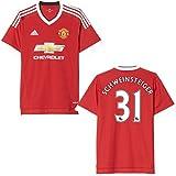 adidas Herren Manchester United Schweinsteiger Trikot Home 2016 rot 152