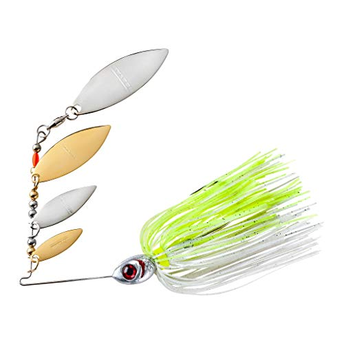 Booyah BYSS38-612 Super Shad Spinnerbait, 3/8-Ounce, Silver