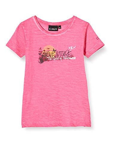 CMP Mädchen Jersey T-Shirt 100% Cotton, Bouganville, 164