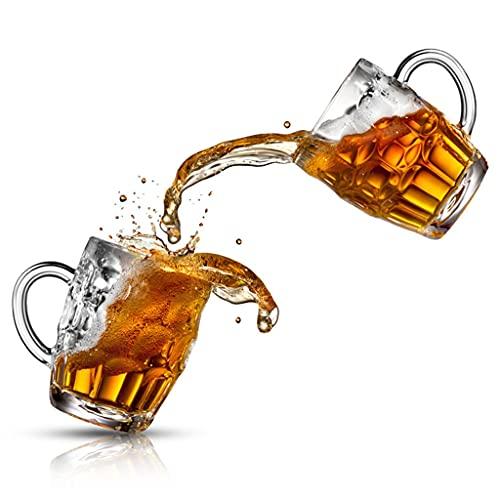 Jarras de cerveza Grande De 19 Onzas Tazas De Vidrio Grandes con Asa Tazas para Beber De Pub Tazas De Agua Taza De Jugo para Bar Tazas De Bebidas 2 Juegos De