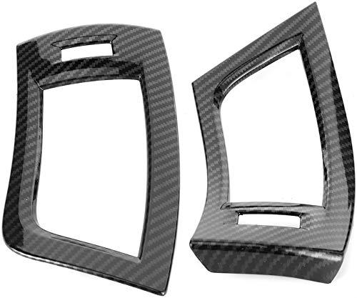 『Alphard 2016□201 2PCSフロントサイドエアベントアウトレットトリムカーボンファイバースタイルインテリアの装飾』の4枚目の画像