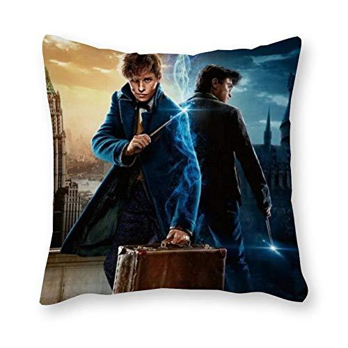 Harry Potter, cuscino pop art, federa per cuscino singolo, senza imbottitura, 40 x 40 cm (solo federa)