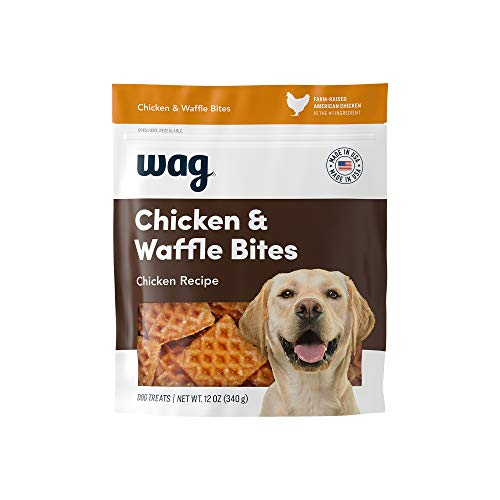 Amazon Brand - wag Treats Chicken and Waffle Bites 12oz