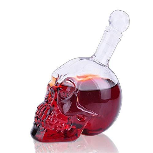 Botella De Calavera De Cristal | Botella De Whisky, Decantador De Vodka,...