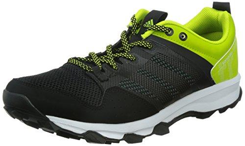 adidas Performance Herren Kanadia 7 Trail Traillaufschuhe, Schwarz (Core Black/Core Black/Semi Solar Yellow), 42 EU