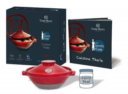 Emile henry - 619107 - Coffret cuisine thaï rouge Flame
