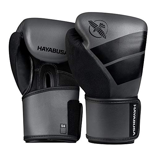 Hayabusa Boxhandschuhe, Kinder, S4, grau Größe 12 Oz