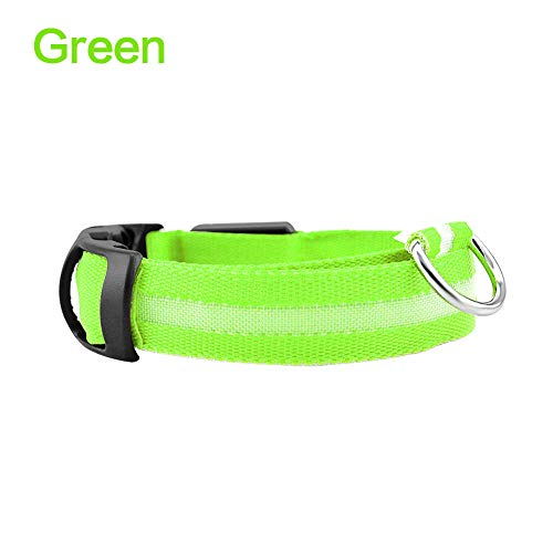 Led-huisdier hondenhalsband nachtlicht veiligheid knipperend lichten hondenriem honden oplichtend fluorescerende halsbanden Anti-Lost Pet Supplies Lamp-Groen_Organe_S