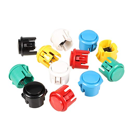 EG Starts OEM 12x 30mm Push Button Switch Copy Sanwa Obsf-30 Obsc-30 Obsn-30 Buttons DIY Arcade Fighting Game Kits & Super Street Fighter Games - Each Color 2 pcs