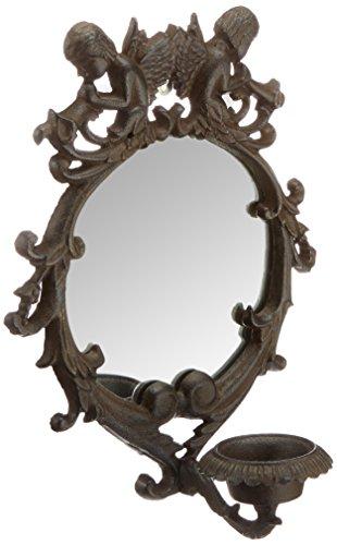 XI 'an Linton gs-05036 – Miroir avec Ange, métal, 4 x 24 x 30 cm, Couleur Rouille