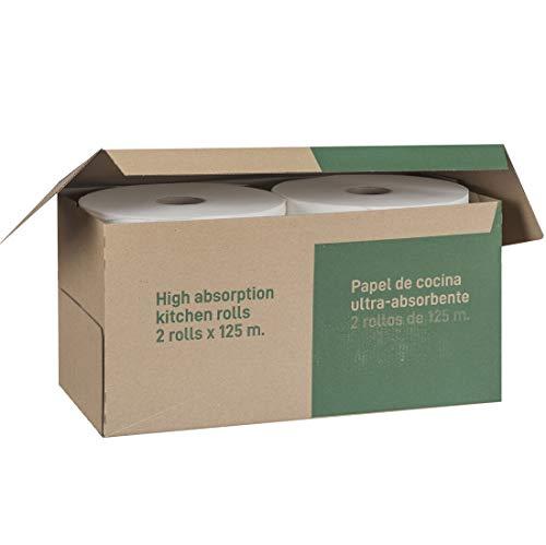 Dalia - Caja de 2 maxi-rollos multiusos (125m) de papel ecológico sin blanquear
