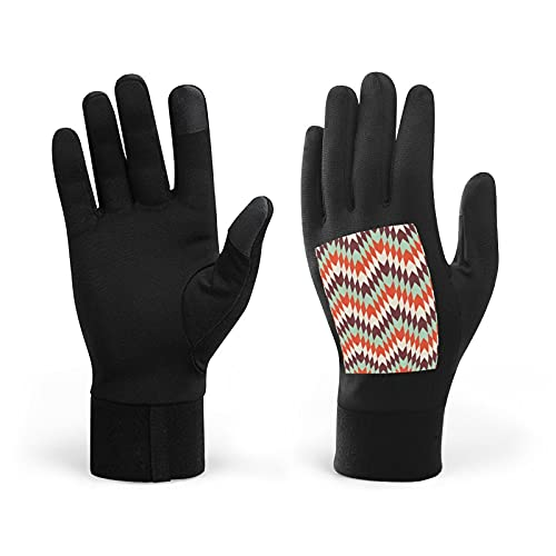 Modern Abstract Pattern Winter Warm Gloves, Men Women Touch Screen Glove Windproof Warm Gloves For Driving Cycling
