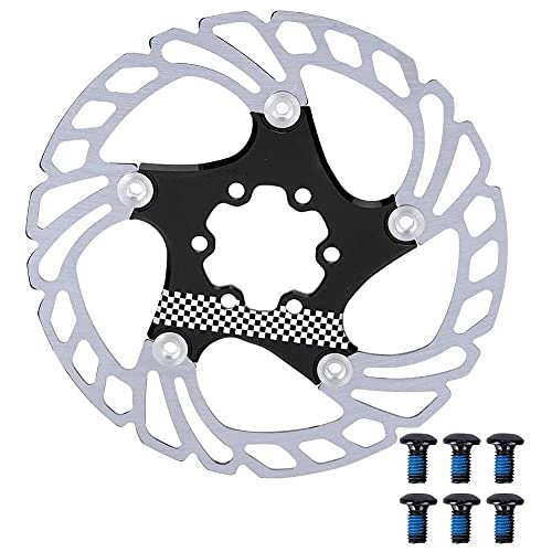 Bicicleta de Freno de Disco del Rotor de aleación de Aluminio de Bicicletas centerlock Disco de refrigeración Rotor Negro 140MM