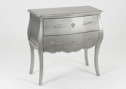 Adept Home 074625 Commode New Silver Murano, Multicolore, Unique