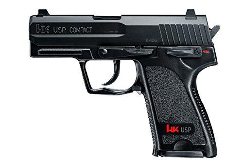 HECKLER & KOCH Softair USP Compact mit Maximum 0.5 Joule Airsoft Pistole, Schwarz, One Size