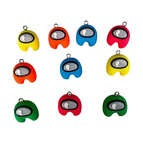 NOA Mini Sleutelhangers Oorbellen Doll Speelgoed Karakter Games Sleutelhanger Decor Pack met Roze Geel Oranje Blauw Groen Speelgoed voor Kinderen Volwassenen Kerst Verjaardagscadeau (10 stuks)