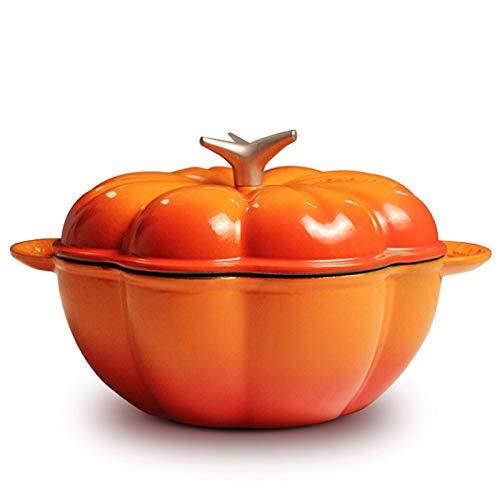 DYXYH Tomate hogar Forma de Hierro Fundido del Esmalte cocinar guisado de la Sopa Espesada Pot Base Plana cazo Cocina de inducción (Color : C)