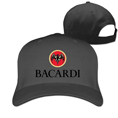 SHUIFENG66 TLK Geek Bacardi Logo Adult Fishing Caps Black Black,Hüte, Mützen & Caps
