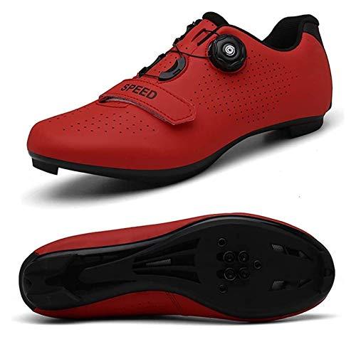 Xhwyf Zapatos de Ciclismo para Hombres, Zapatos de Scooter con Cerradura, adecuados para Zapatos de Bicicleta para Hombres con Cerradura. (Color : 1, Size : 5 UK)