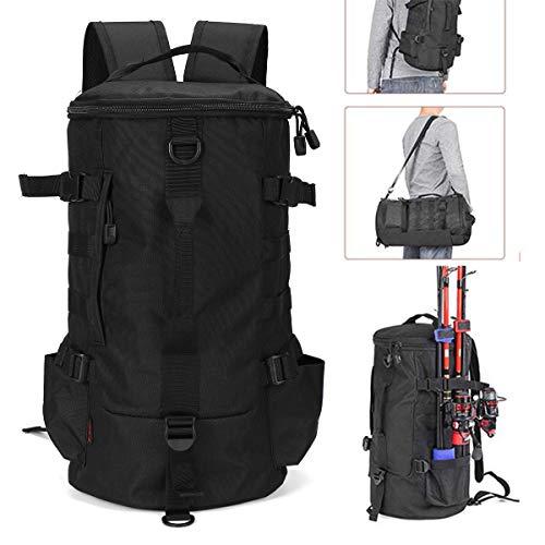 Angle-w stilvolles Design, einfaches Reisen, 23L Angelrucksack Angeln Werkzeugtasche außerhalb der Multifunktionsaufbewahrungstasche Umhängetasche Lass Uns weiter gehen (Color : Camouflage Grey)