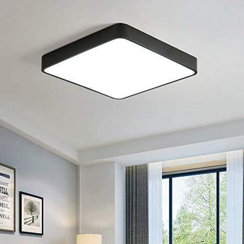 Ganeed Lámpara de techo LED de 36W, lámpara de techo LED cuadrada de 15,7 pulgadas, lámpara de techo de ahorro de energía blanco frío de 6500 K para comedor, baño, cocina, pasillo, escaleras