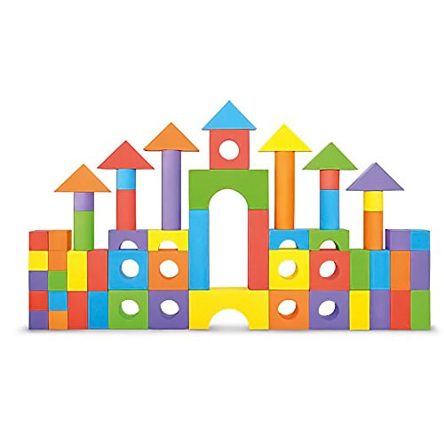Product Image of the Foam Building Blocks, Building Toy for Girls and Boys, Ideal Blocks Construction...