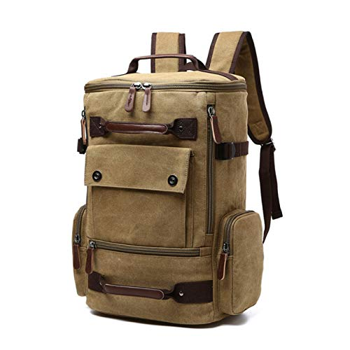YFFSBBGSDK Men'S Backpack Men'S Backpack Retro Canvas Backpack School Bag Men'S Travel Bag Large Capacity Backpack Laptop Backpack