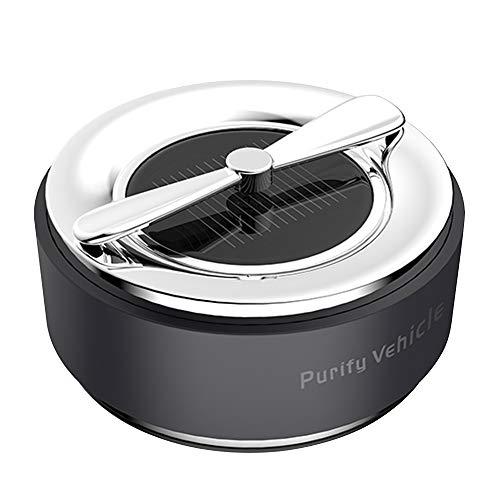 Luopei Longdong - Perfume solar para coche, material de PC, aspecto elegante y creativo, purificador de aire de aromaterapia con energía solar, para coche, consola central, etc.