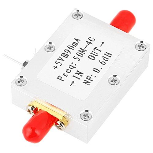 Amplificador de banda ancha, amplificador de bajo ruido LNA 50M-4GHz NF = 0.6dB RF FM HF VHF/UHF Ham Radio Amplificador -110dBm