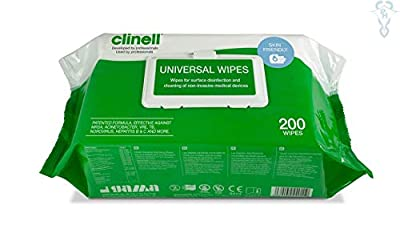 CLINELL Wipes Universal Wipes For Disinfection And Surface Cleaning. by CLINELL