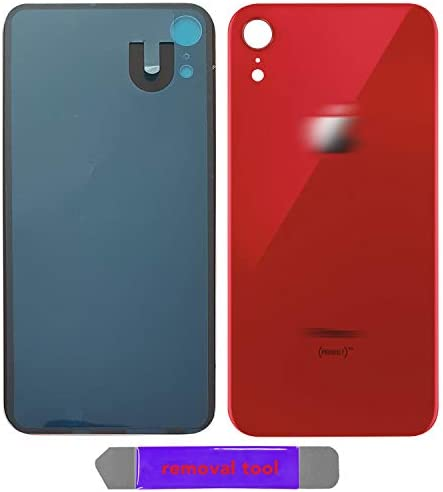 iXR Back Glass Replacement Battery Door Cover OEM Quality & Compatible with The iPhone XR All Carriers w/Removal Tool (RED)