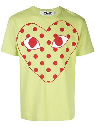 Luxury Fashion | Comme Des Garçons Play Heren P1T276GREEN Groen Katoen T-shirts | Lente-zomer 20
