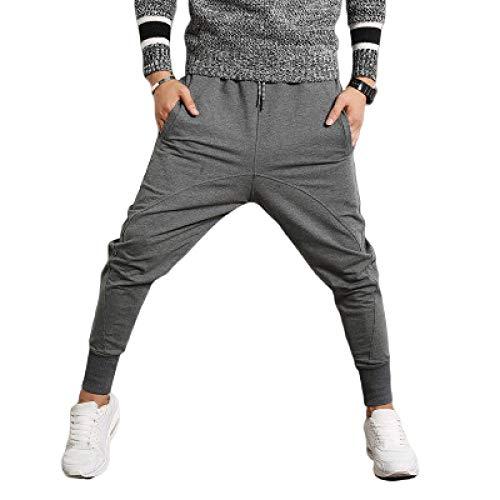 Pantalones de Jogging a la Moda para Hombre, Entrepierna Baja, Color sólido, elástico, Ajustado, con cordón, Cintura elástica, pies con viga, Ropa de Calle Hip Hop XX-Large