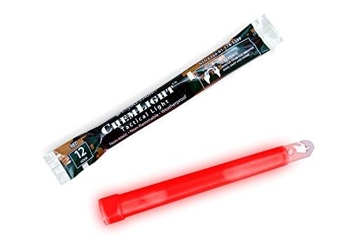 Cyalume® Bâton lumineux rouge de marque - Military ChemLight - 12 heures - 6\