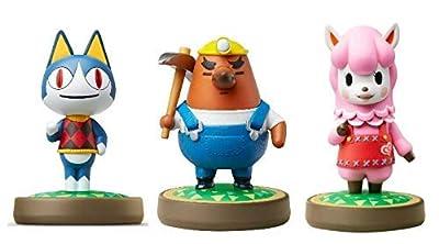 Rover - Mr. Resetti - Reese - Amiibo (Animal Crossing Series) for Nintendo Switch - WiiU, 3DS 3 Pack (Bulk Packaging) (Renewed)