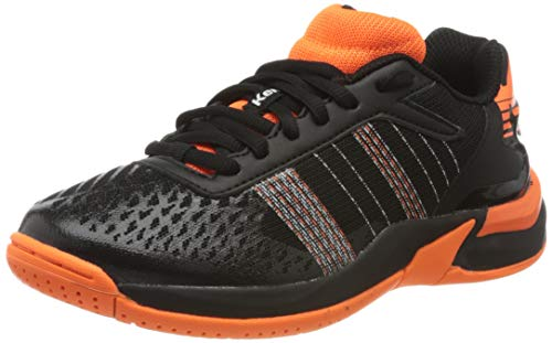 Kempa Unisex Kinder Attack Contender JUNIOR Sneaker, schwarz/Fluo orange, 35 EU