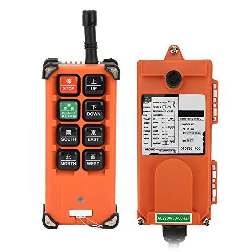 Remote Control, Industrial Channel Lift Radio Remote Controller, Electric Hoist Wireless for Industrial Control Bridge Crane/Overhead Crane