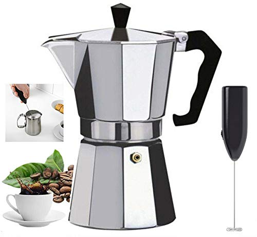 Italian Espresso STOVE TOP Coffee Maker & Electric MILK FROTHER...