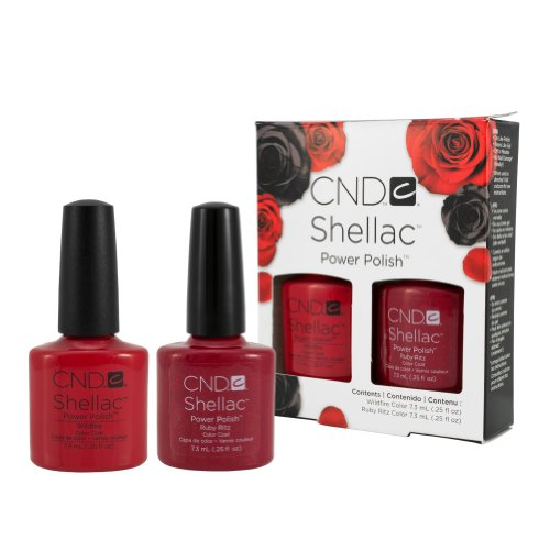 "CND Shellac-UV-Nagellack, Set mit Farben ""Ruby Ritz"" & ""Wildfire"""