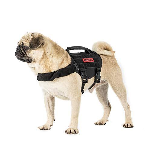 OneTigris Molle Arnés Táctico para Cachorros de Perros pequeños, Ajustable Arnés para Caza, Senderismo, Entrenamiento, Paseo, Actividades al Aire Libre